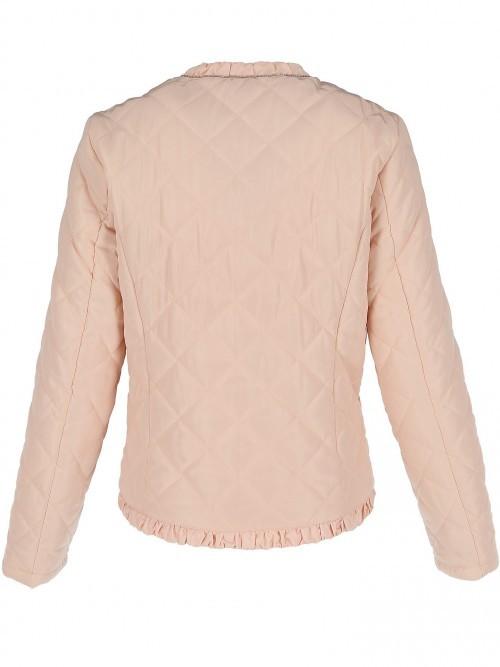 Pikowana kurtka z falbanką
