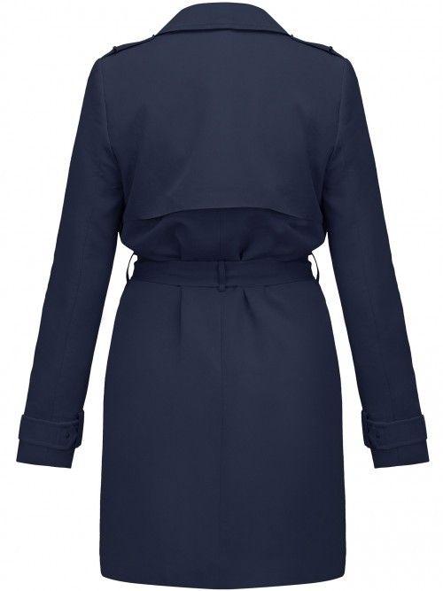 Elegancki płaszcz wiązany paskiem