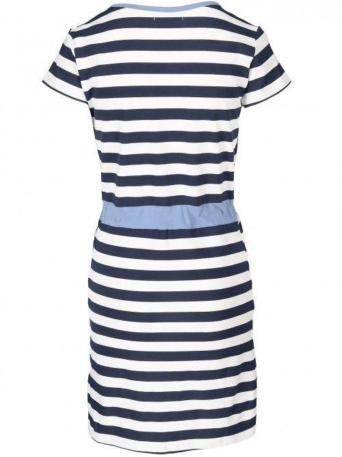 Sukienka w paski w stylu marynarskim