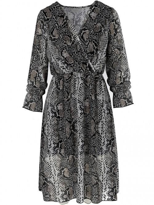 Kopertowa sukienka typu wąż