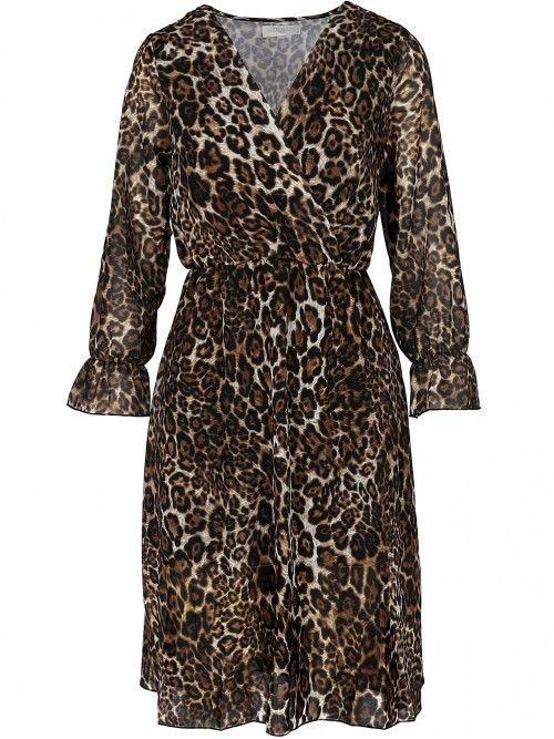 Kopertowa sukienka typu panterka