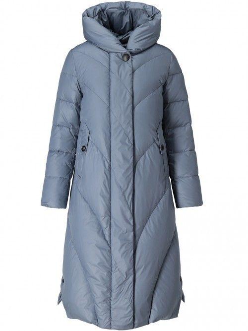 Płaszcz puchowy ze skośnym pikowaniem