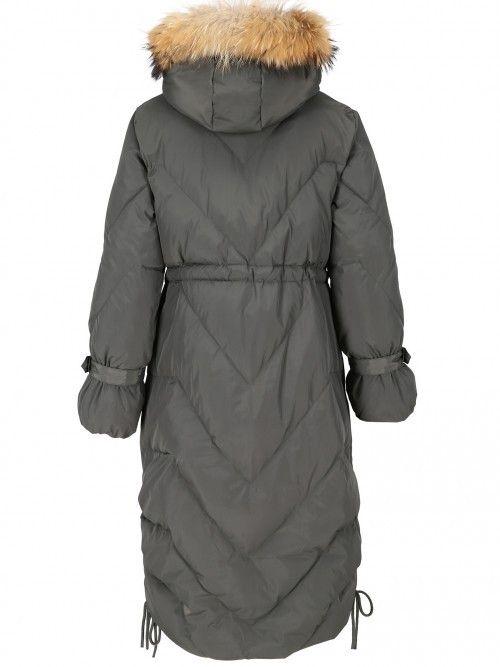 Płaszcz puchowy z bufiastymi rękawami