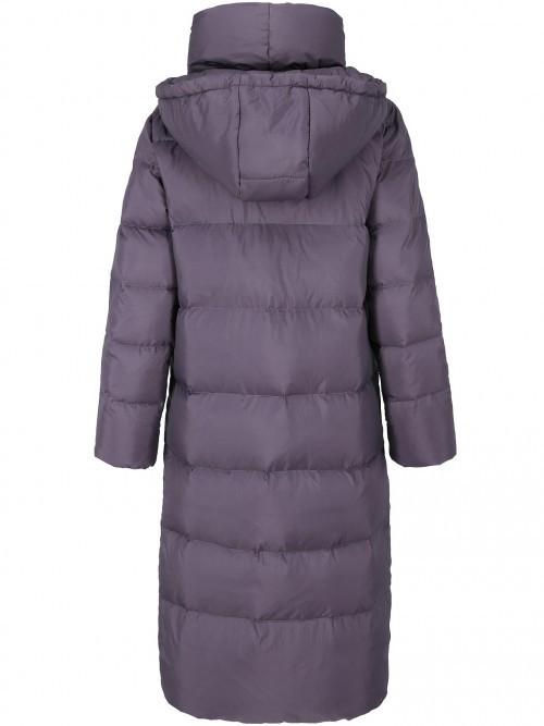 Płaszcz puchowy z bocznym wiązaniem