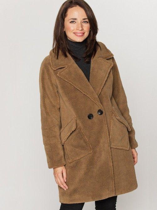 """Oryginalny płaszcz oversize """"miś"""", reglan"""
