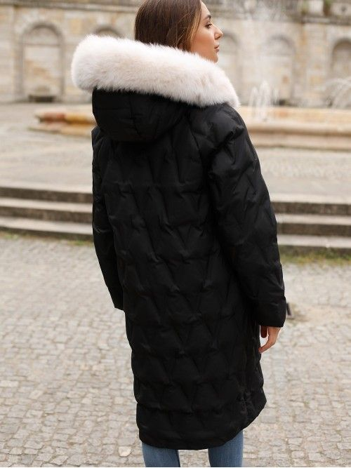 Elegancki damski płaszcz puchowy