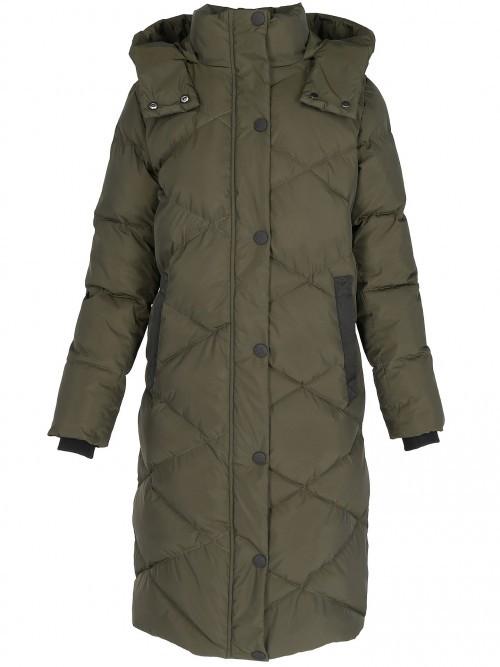 Długa pikowana kurtka damska