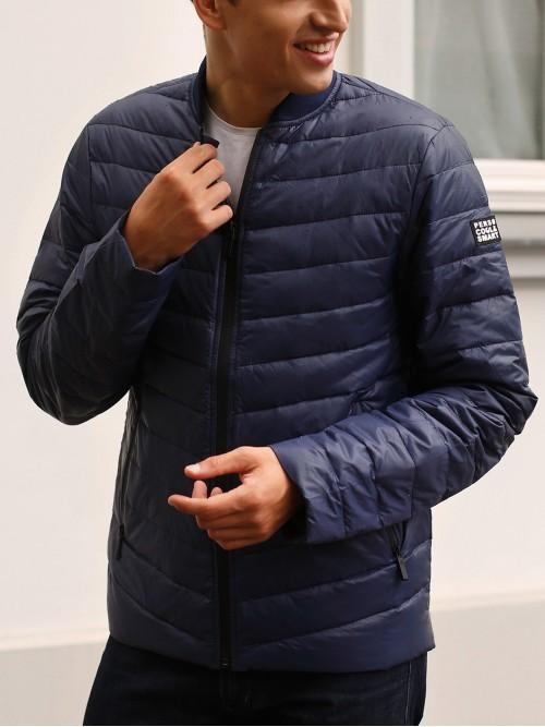 Puchowa pikowana kurtka męska
